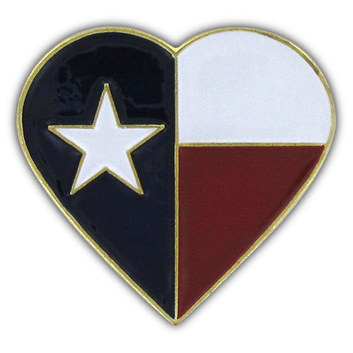 Texas Heart Pin