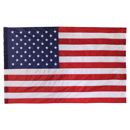 USA 2x3ft Nylon Flag with Pole Hem Only - Banner