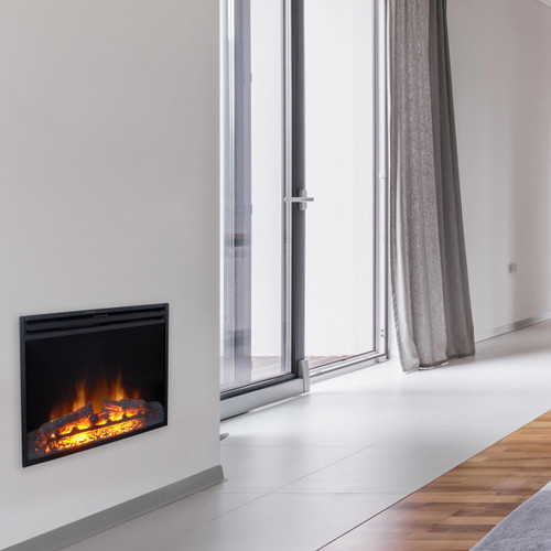 Cambridge 28-In. Freestanding 5116 BTU Electric Fireplace Heater Insert with Remote Control and 9-Hour Timer
