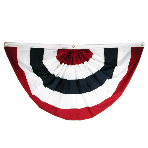 3ft x 6ft Sewn Polyester Pleated Fan - Online Stores, Inc. Brand - NO STARS