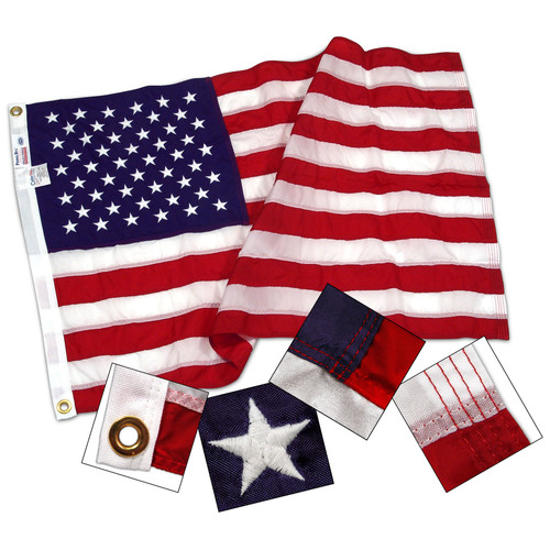 Super Tough Brand 5ft x 9.5ft Nylon US Flag