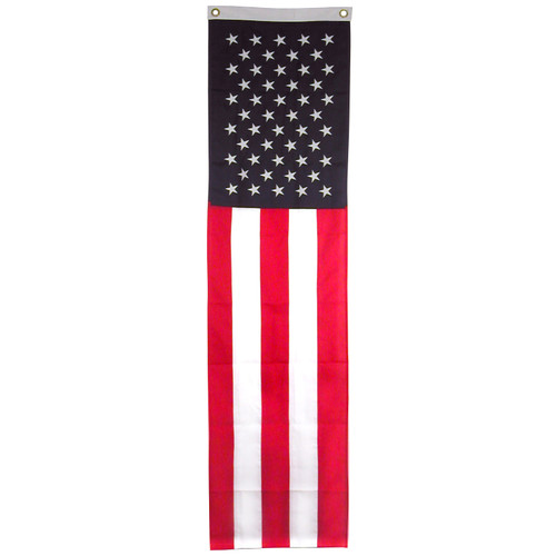 US Flag Pulldown - Online Stores Brand - 20inch x 8ft OLS - Sewn Nylon