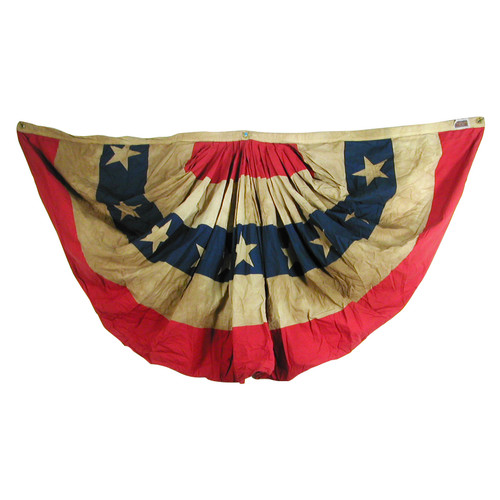 USA 3ft x 6ft Cotton Pleated Fan Heritage Series by Valley Forge