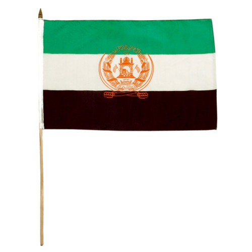 OLD Afghanistan flag 12 x 18 inch