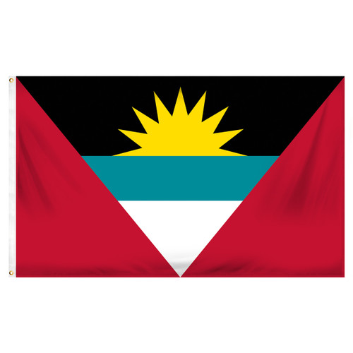 Antigua and Barbuda 3ft x 5ft Printed Polyester Flag