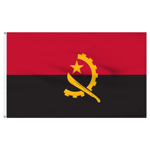Angola 5ft x 8ft Nylon Flag