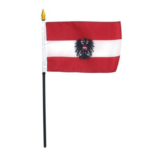 Austria WITH SEAL 4in x 6in Flag
