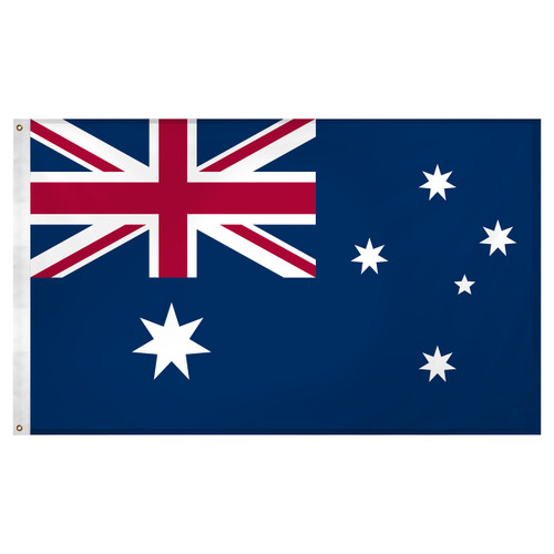 Australia flag 3ft x 5ft Super Knit polyester
