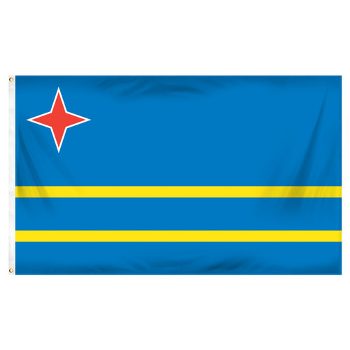Aruba 3ft x 5ft Printed Polyester Flag