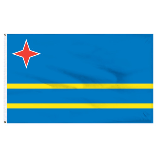Aruba 4ft x 6ft Nylon Flag