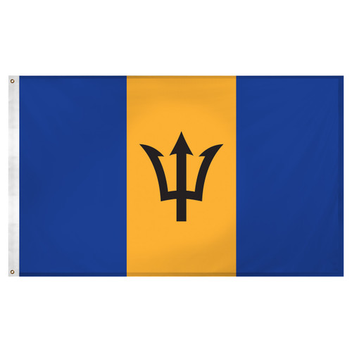 Barbados Flag 3ft x 5ft Super Knit Polyester