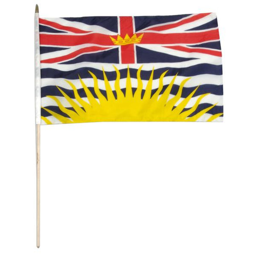British Columbia 12 x 18 Inch Flag