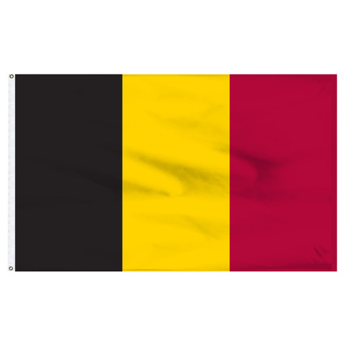 Belgium Flag 5ft x 8ft Nylon