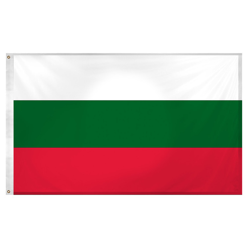 Bulgaria Flag 3ft x 5ft Super Knit Polyester