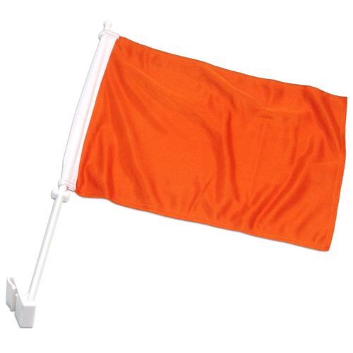 Solid Orange Car Flag