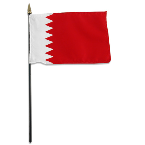 Bahrain 4in x 6in Flag