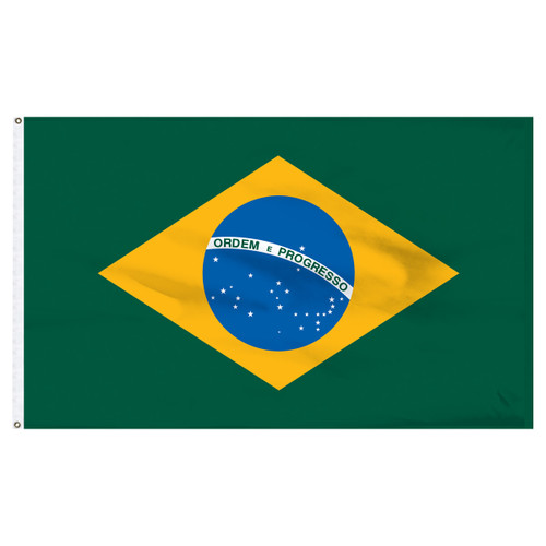 Brazil 6ft x 10ft Nylon Flag Flag