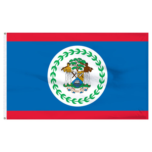 Belize 5ft x 8ft Nylon Flag