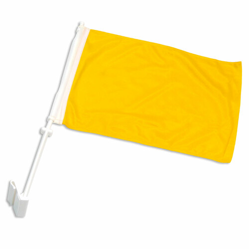 15-Inch x 12-Inch Solid Yellow Polyester Car Flag