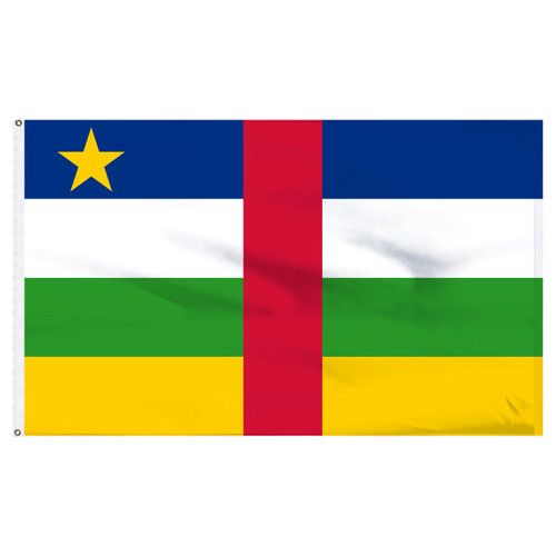 Central African Republic Flag 5ft x 8ft Nylon