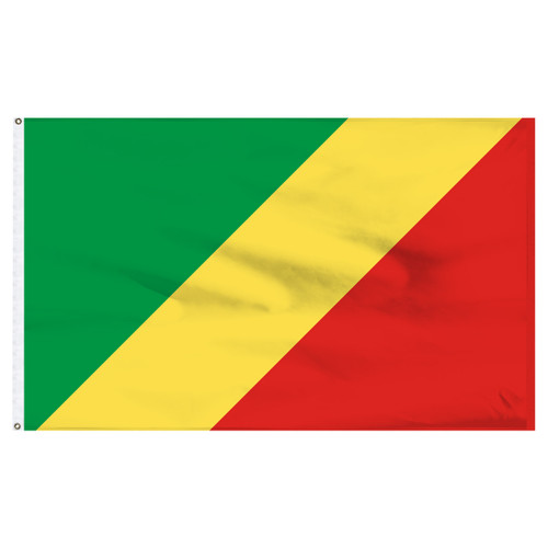 Congo Republic 4ft x 6ft Nylon Flag