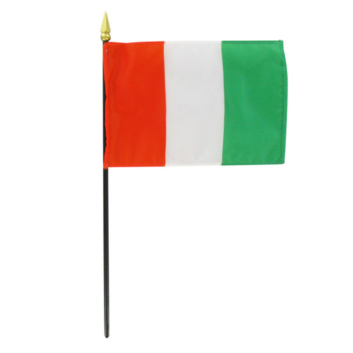 Cote d Ivoire 4in x 6in Stick Flag