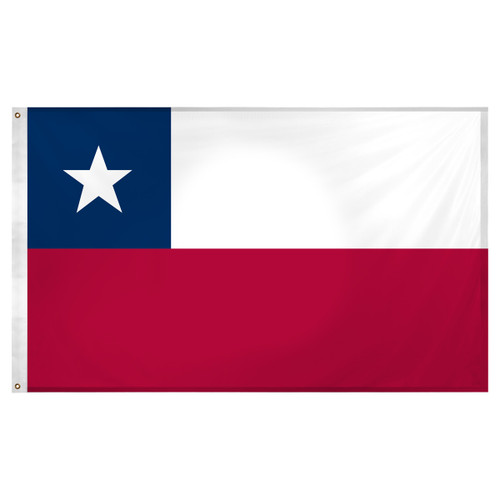 Chile flag 3ft x 5ft Super Knit Polyester