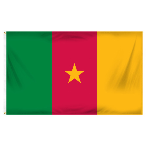 Cameroon 3ft x 5ft Printed Polyester Flag