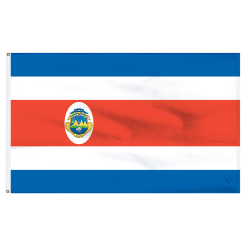 Costa Rica 3ft x 5ft Printed Polyester Flag