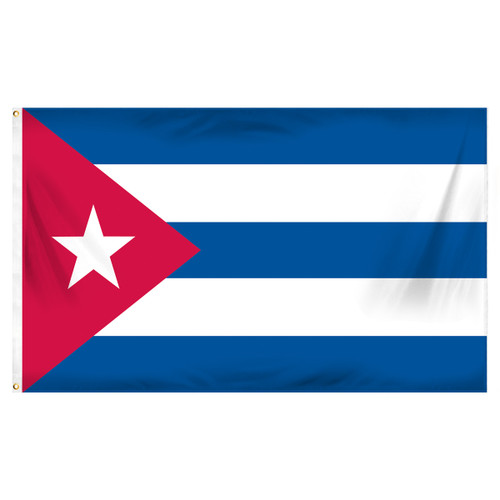 Cuba 3ft x 5ft Printed Polyester Flag