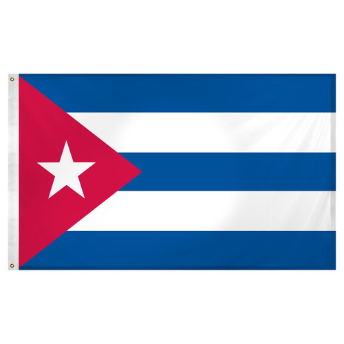 Cuba Flag 3ft x 5ft Super Knit Polyester