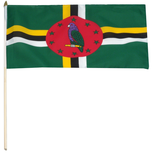 Dominica flag 12 x 18 inch