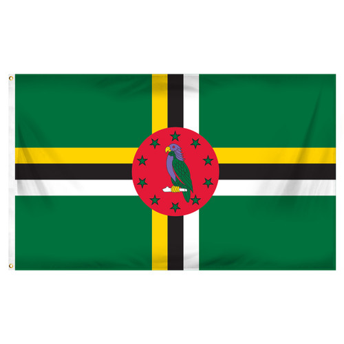 Dominica 3ft x 5ft Polyester Flag