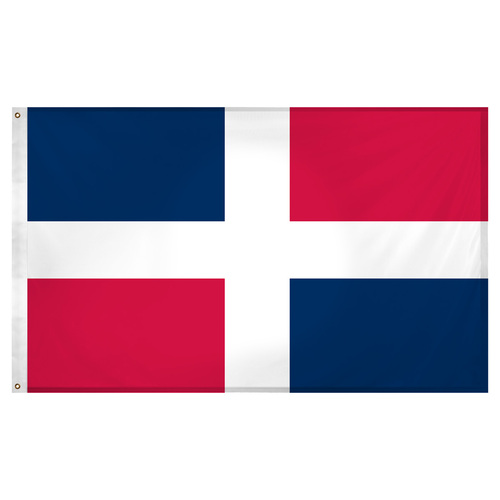 Dominican Republic 3ft x 5ft Super Knit Polyester Flag- No Seal