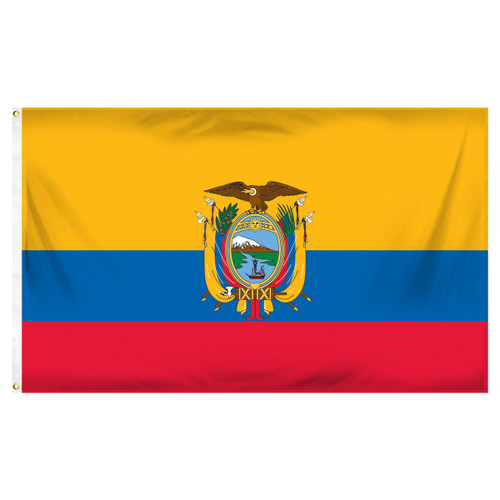 Ecuador 3ft x 5ft Printed Polyester Flag