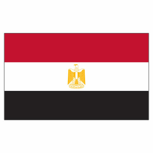 Egypt 3ft x 5ft Printed Polyester Flag