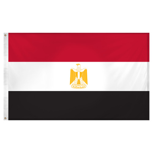 Egypt Flag 3ft x 5ft Super Knit Polyester
