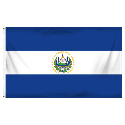 El Salvador 3ft x 5ft Printed Polyester Flag