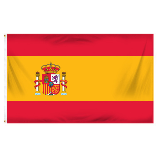 Spain 3ft x 5ft Printed Polyester Flag