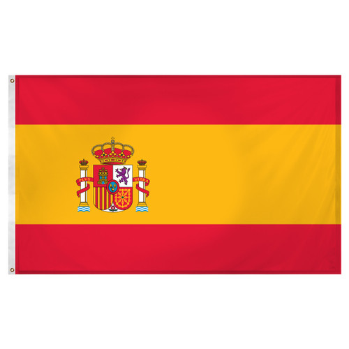 Spain flag 3ft x 5ft Super Knit Polyester