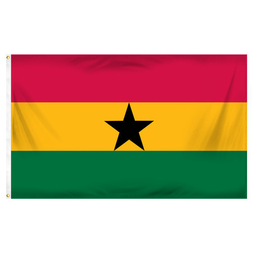 Ghana 3ft x 5ft Printed Polyester Flag