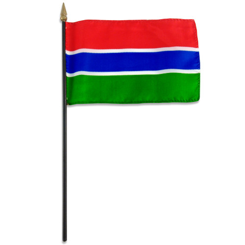 Gambia flag 4 x 6 inch