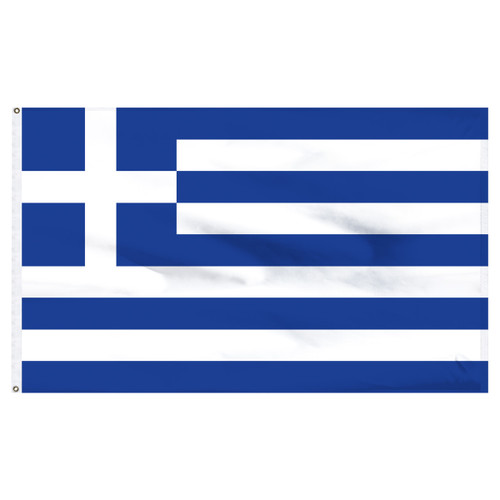 Greece 6ft x 10ft Nylon Flag