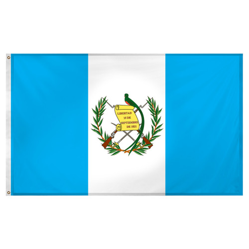 Guatemala flag 3ft x 5ft Super Knit Polyester