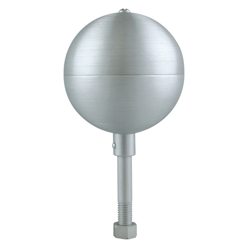 Clear Anodized Aluminum Ball Topper
