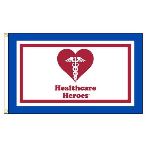 Healthcare Heroes Flag 3ft x 5ft Nylon