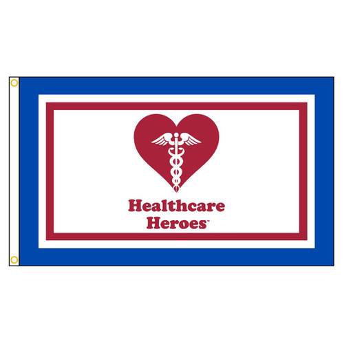 Healthcare Heroes Banner Flag 2.5ft x 4ft Nylon