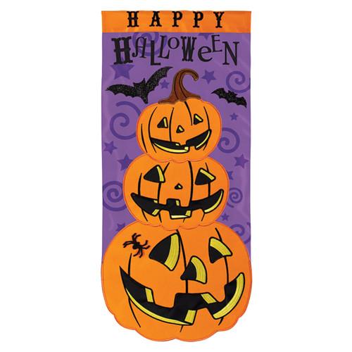 Carson Halloween Long Banner Flag - Stack-O-Jacks