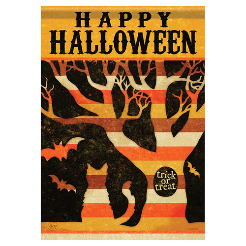 Carson Halloween Garden Flag - Halloween Tree