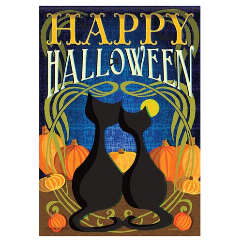Carson Halloween Garden Flag - Black Cats Halloween